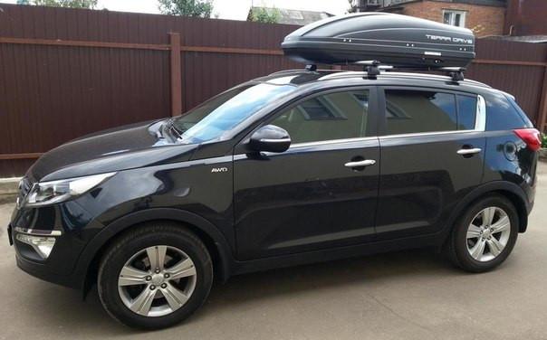 Автобокс Terra Drive черный 440 литров