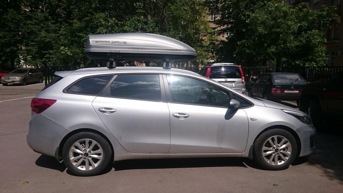Автобокс Terra Drive серый 440 литров
