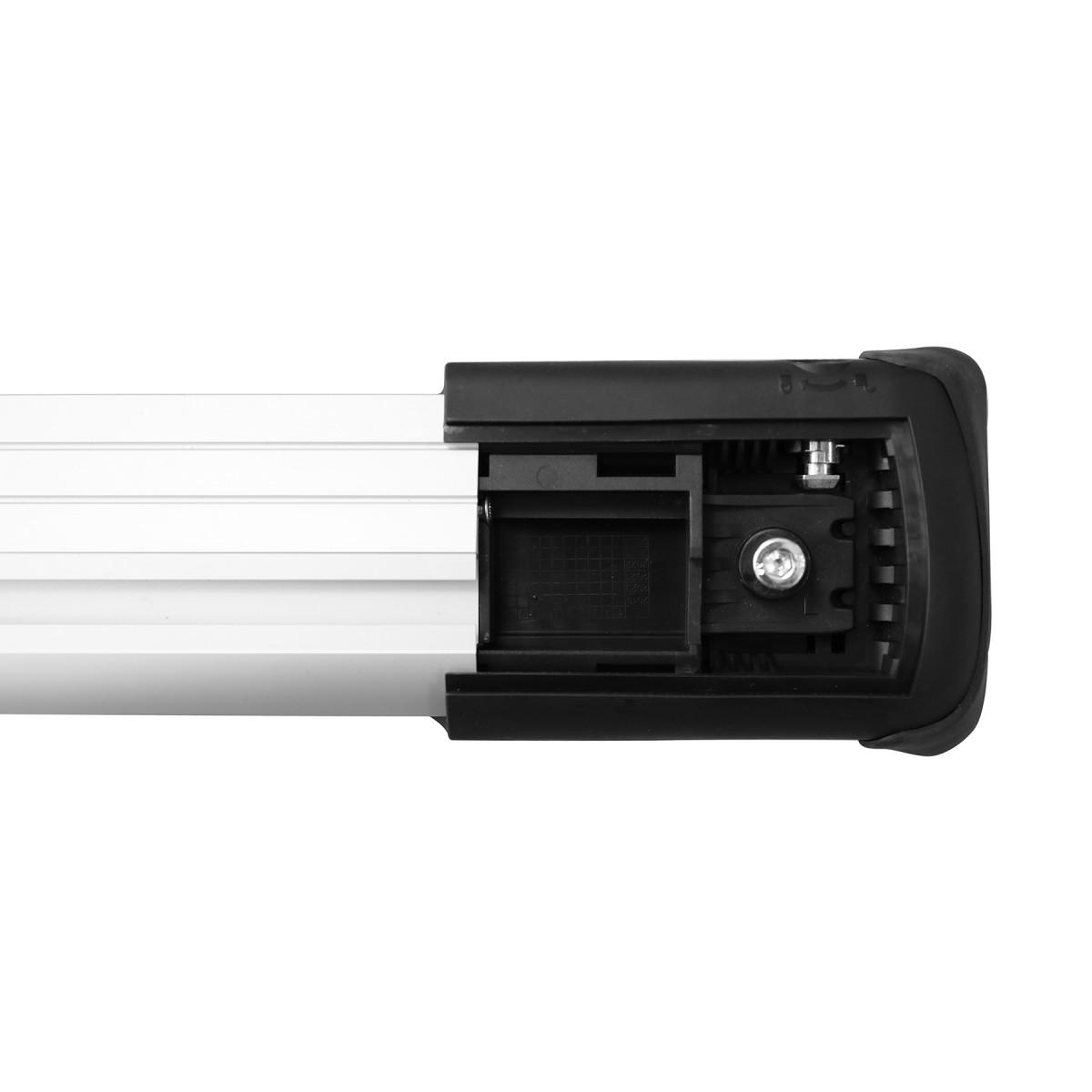 Багажник на рейлинги Lux Хантер L54-R серебристый