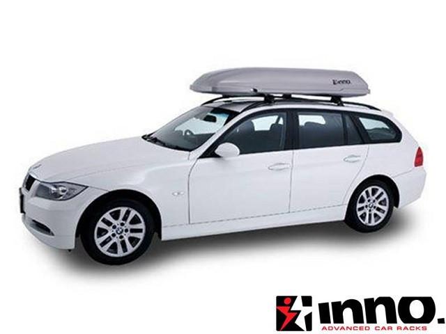 Автобокс Inno Roofbox 33 серебристый глянцевый