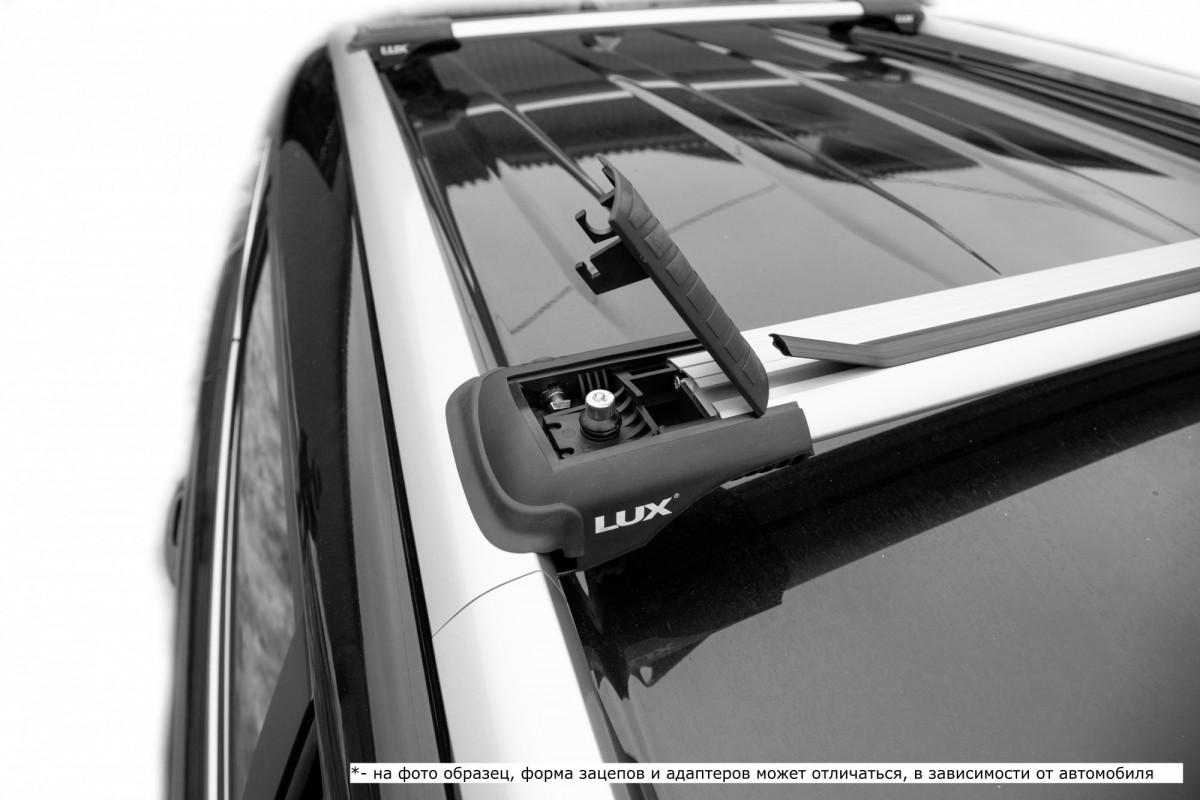 LUX HUNTER серый, крыловидные аэро дуги (модельный багажник)