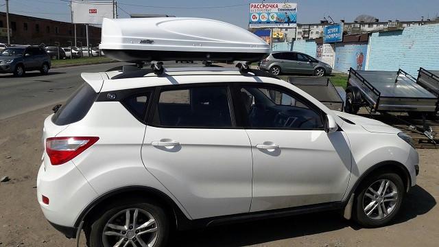 Автобокс Koffer 430 белый глянец