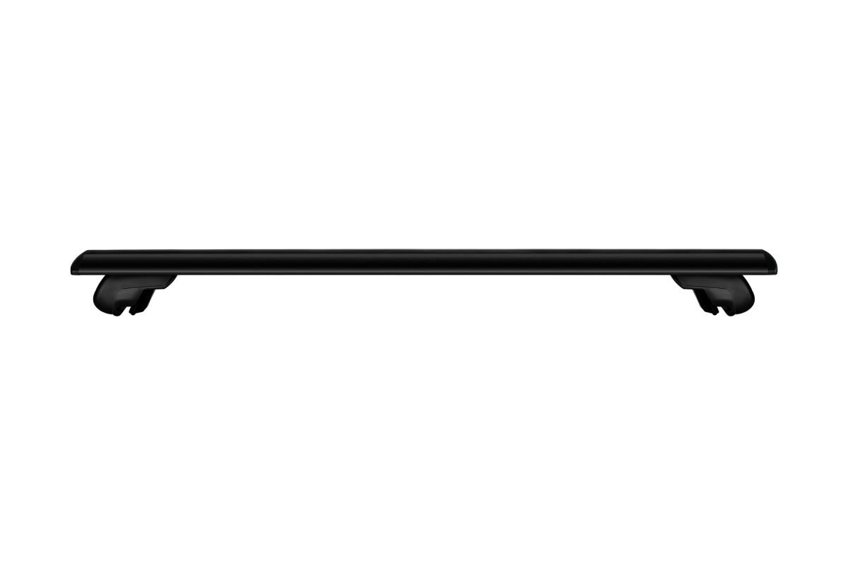 Багажник на интегрированные рейлинги Атлант крыловидные аэро дуги черные