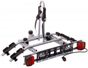 Велоплатформа AMOS TITAN 2 PLUS для перевозки 2-х велосипедов на фаркопе