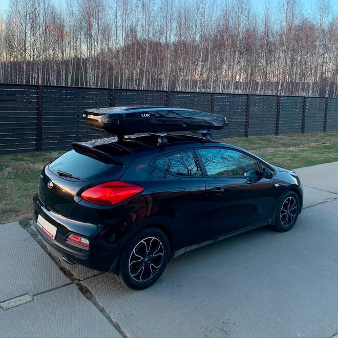 Автобокс Lux Major 460 литров черный глянец